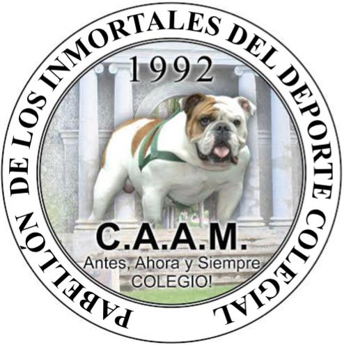 Selo Pabellón de los Inmortales del Deporte Colegial.